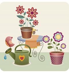 garden utensils vector image