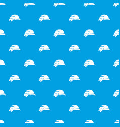 hardhat pattern seamless blue vector image vector image
