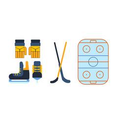 hockey skates ice boots pair vector image
