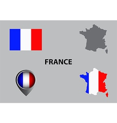 Map of France and symbol vector image vector image