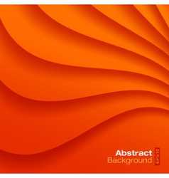 Orange Wavy background vector image