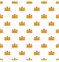 ruby imperial crown pattern seamless vector image vector image