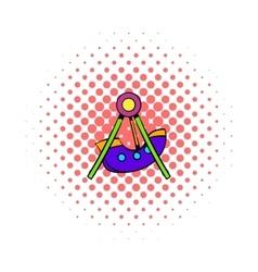 Swing icon comics style vector image vector image
