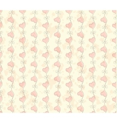 vintage Seamless pattern with hearts Valentines vector image