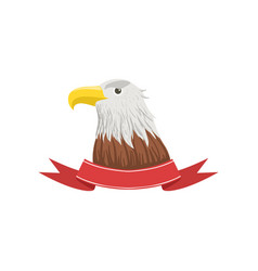 american bald eagle usa emblem with bird and vector image