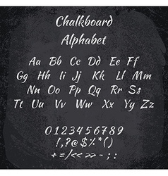 chalked alphabet vector image