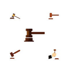 flat icon court set of government building vector image