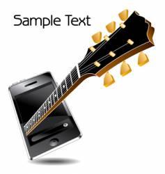 guitar phone vector image vector image