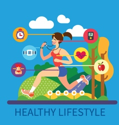 Healthy lifestyle and sport vector image