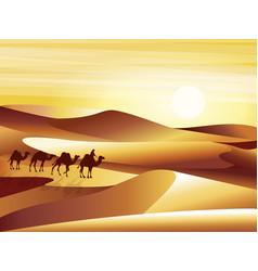 landscape background desert with dunes barkhans vector image