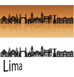 lima skyline vector image vector image