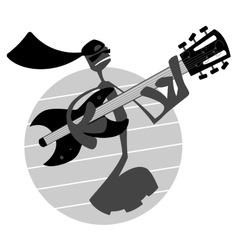 Note Playing Guitar vector image vector image