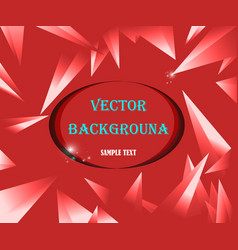 abstract geometric background red with triangle vector image