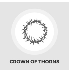 Crown of thorns icon flat vector image vector image