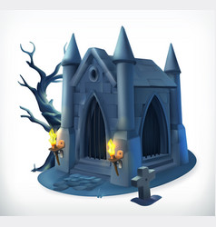 crypt happy halloween 3d icon vector image