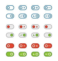 Different flat design sliders collection vector image vector image