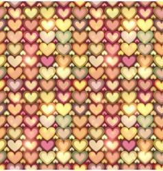 Light pink hearts shining seamless pattern vector image