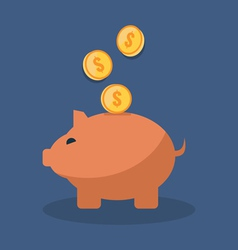 Save money concept Flat design stylish Isolated on vector image vector image