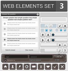 web elements set 3 vector image vector image