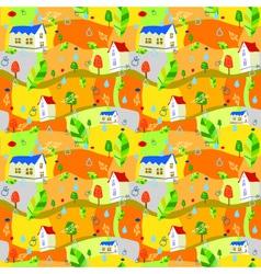 Autumn-pattern vector image vector image