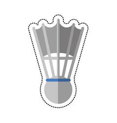 cartoon badminton shuttlecock sport vector image