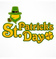 leprechaun lettering logo vector image