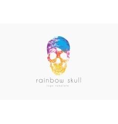 Skull Rainbow skull Skull logo Colorful logo vector image
