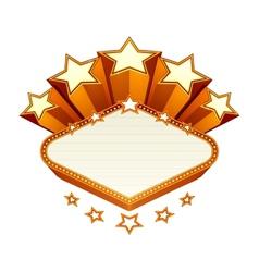 Vegas emblem vector image vector image