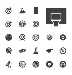22 goal icons vector