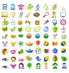 a lot of icons vector image