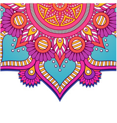 abstract mandala colorful flower design ima vector image