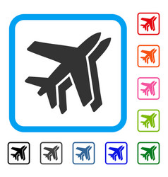 Airlines framed icon vector
