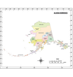 Alaska state outline administrative map vector