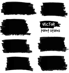 Black paint spots set vector