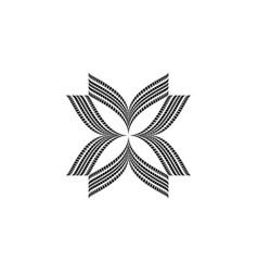 black tire track flower vector image