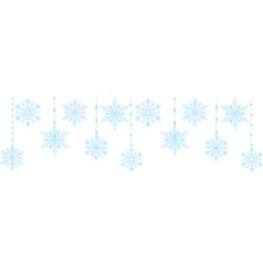Blue snowflakes isolated on white vector