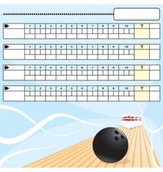 bowling scorecard vector image