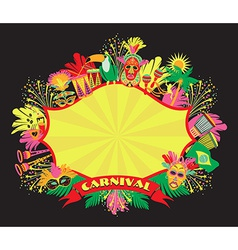 Brazilian Carnival colorful background vector image
