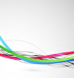 Bright colorful cable bandwidth speed line vector image
