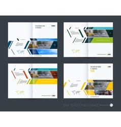 Brochure template layout collection cover design vector