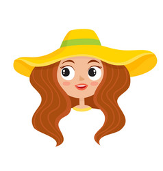 Cartoon woman hippies vector