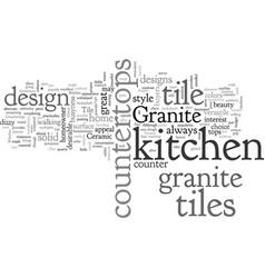 Ceramic tile kitchen countertops vector