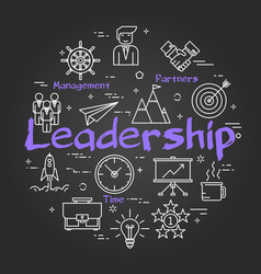 Chalk board concept - leadership sign vector