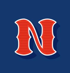 Classic style n letter sport logo vector