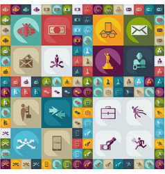 collection set flat icons business theme vector image