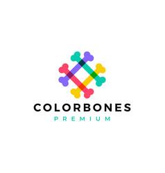 color bone dog food logo icon vector image