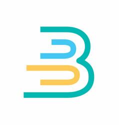 Colorful b logo design template vector