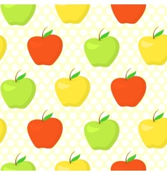 Colorful pattern with green yellow and red apples vector image
