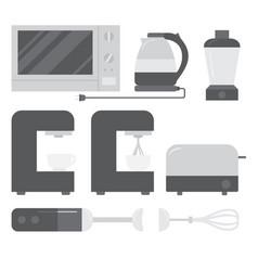 Cooking equipment set vector