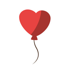 cute heart balloons vector image